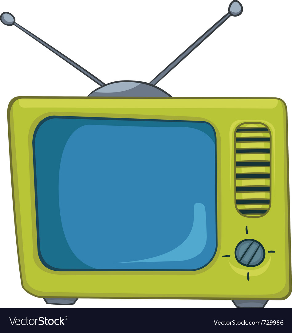 Cartoon appliences old tv vector | Price: 1 Credit (USD $1)