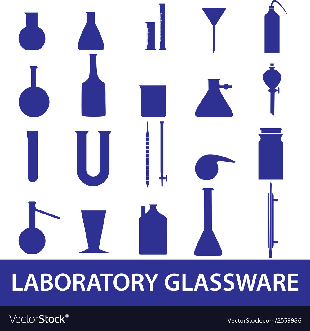 Chemistry laboratory glassware set eps10 vector | Price: 1 Credit (USD $1)