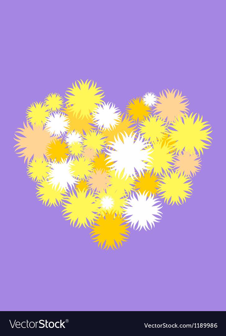 Chrysanthemum heart vector | Price: 1 Credit (USD $1)