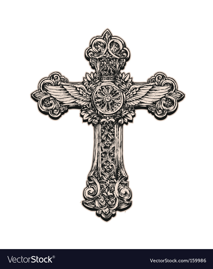Cross live traced vector | Price: 1 Credit (USD $1)