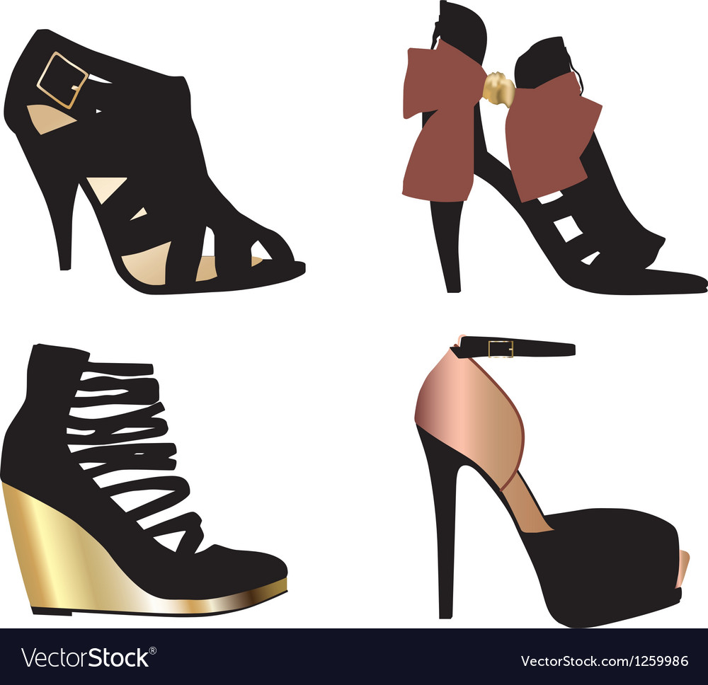 Glamour shoes vector | Price: 1 Credit (USD $1)