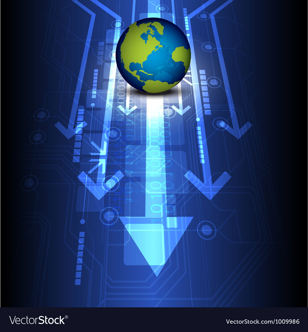Globe digital future technology vector | Price: 1 Credit (USD $1)