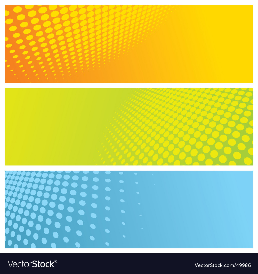 Halftone banners vector | Price: 1 Credit (USD $1)