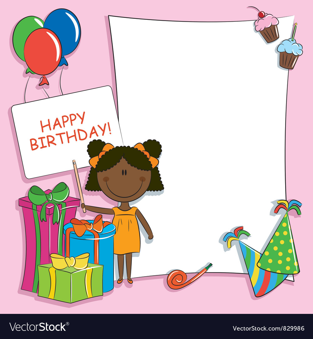 Happy birthday greeting card vector | Price: 3 Credit (USD $3)