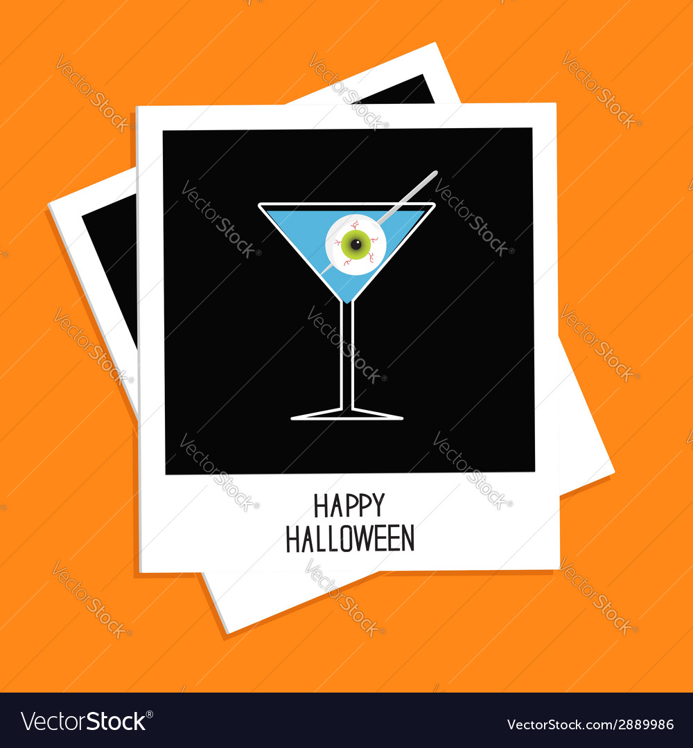 Instant photo martini glass cocktail halloween vector | Price: 1 Credit (USD $1)