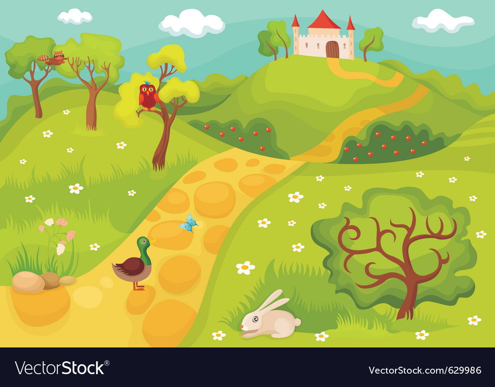 Landscape card vector | Price: 3 Credit (USD $3)
