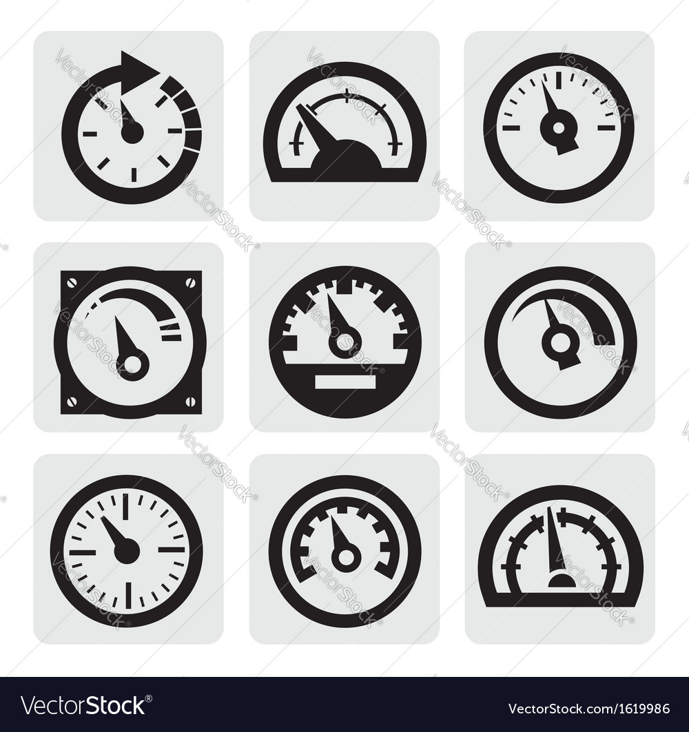 Meter icons vector | Price: 1 Credit (USD $1)