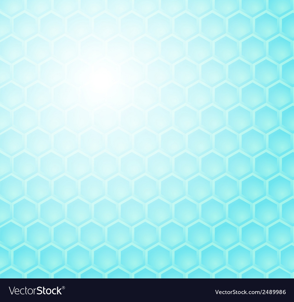 Seamless abstract blue hexagon pattern vector | Price: 1 Credit (USD $1)