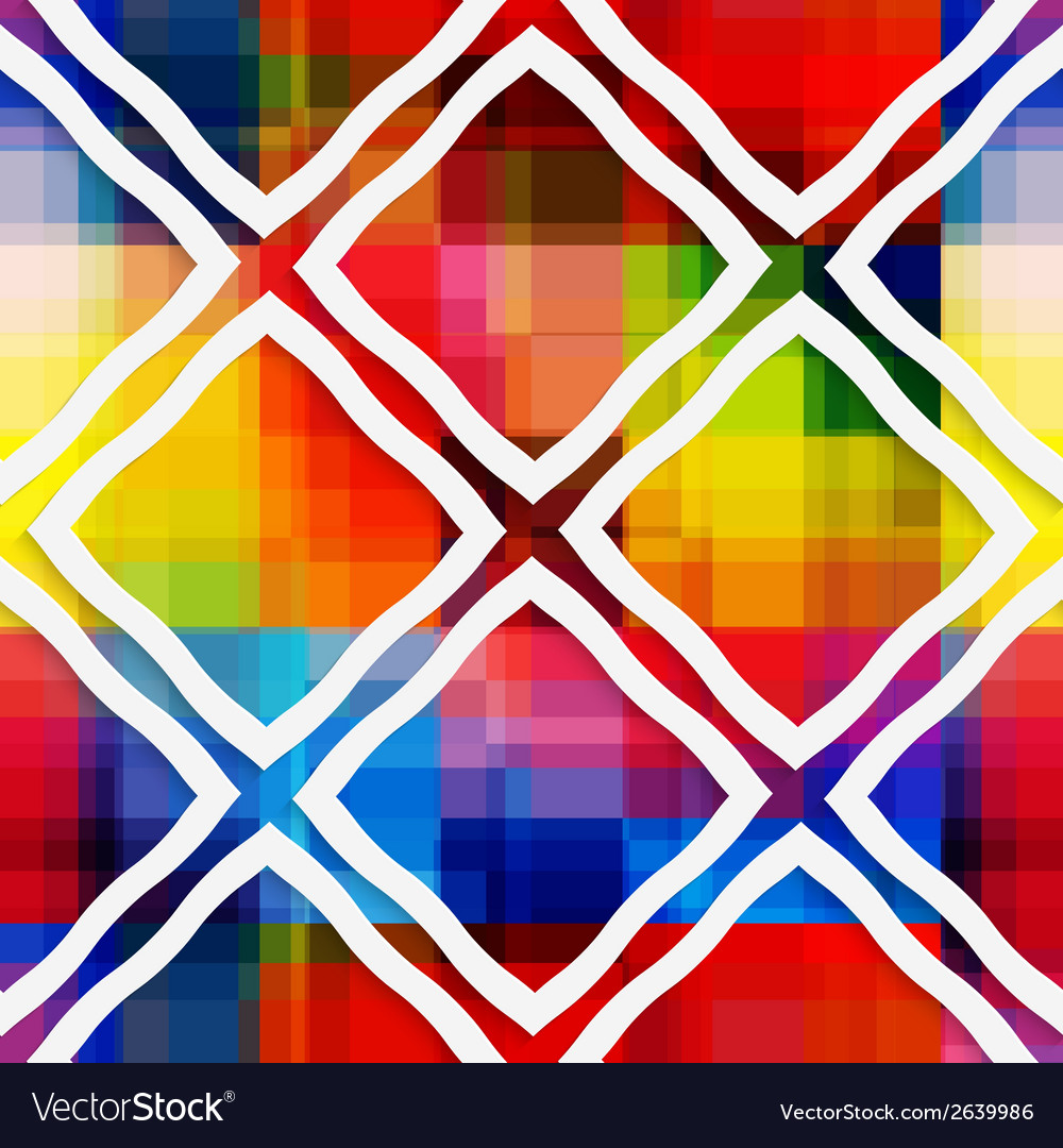 White rectangle rim ornament on rainbow background vector | Price: 1 Credit (USD $1)