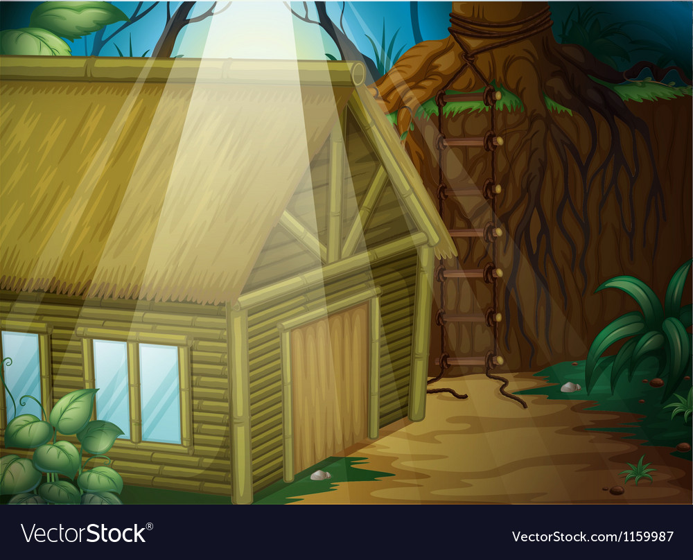 A house in the woods vector | Price: 1 Credit (USD $1)