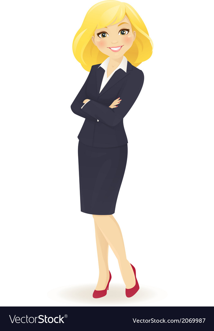 Businesswoman standing vector | Price: 1 Credit (USD $1)
