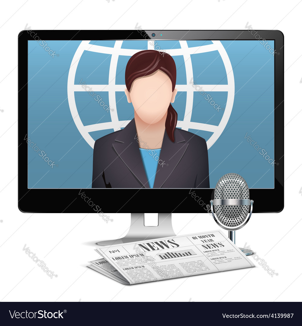 Computer news concept vector | Price: 1 Credit (USD $1)