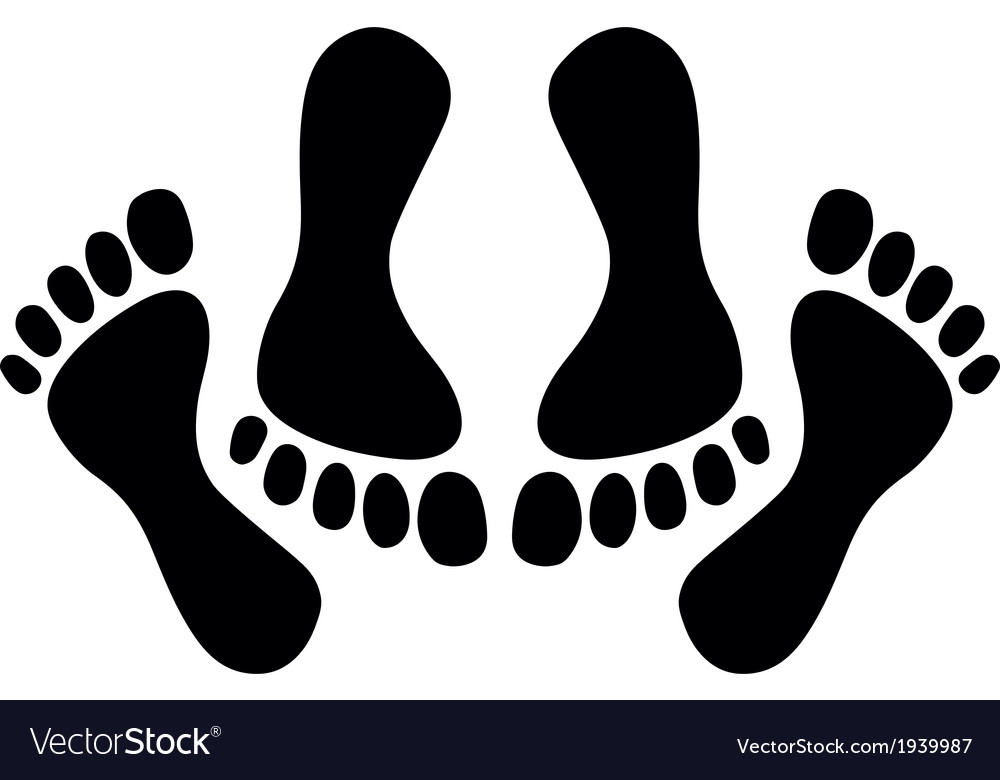 Feet of couple having sex vector | Price: 1 Credit (USD $1)