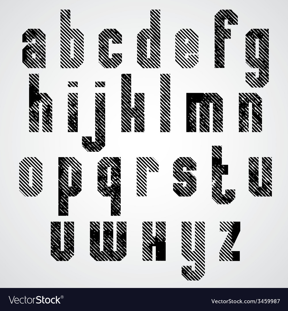 Grunge black rubbed lower case letters decorative vector | Price: 1 Credit (USD $1)