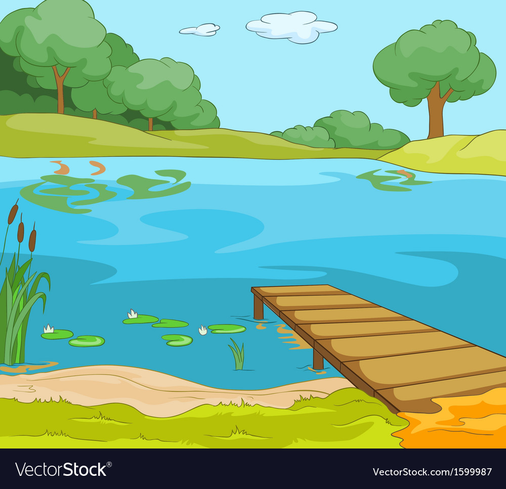 Lake shore vector | Price: 1 Credit (USD $1)