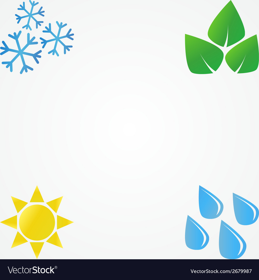 Minimal of seasons vector | Price: 1 Credit (USD $1)