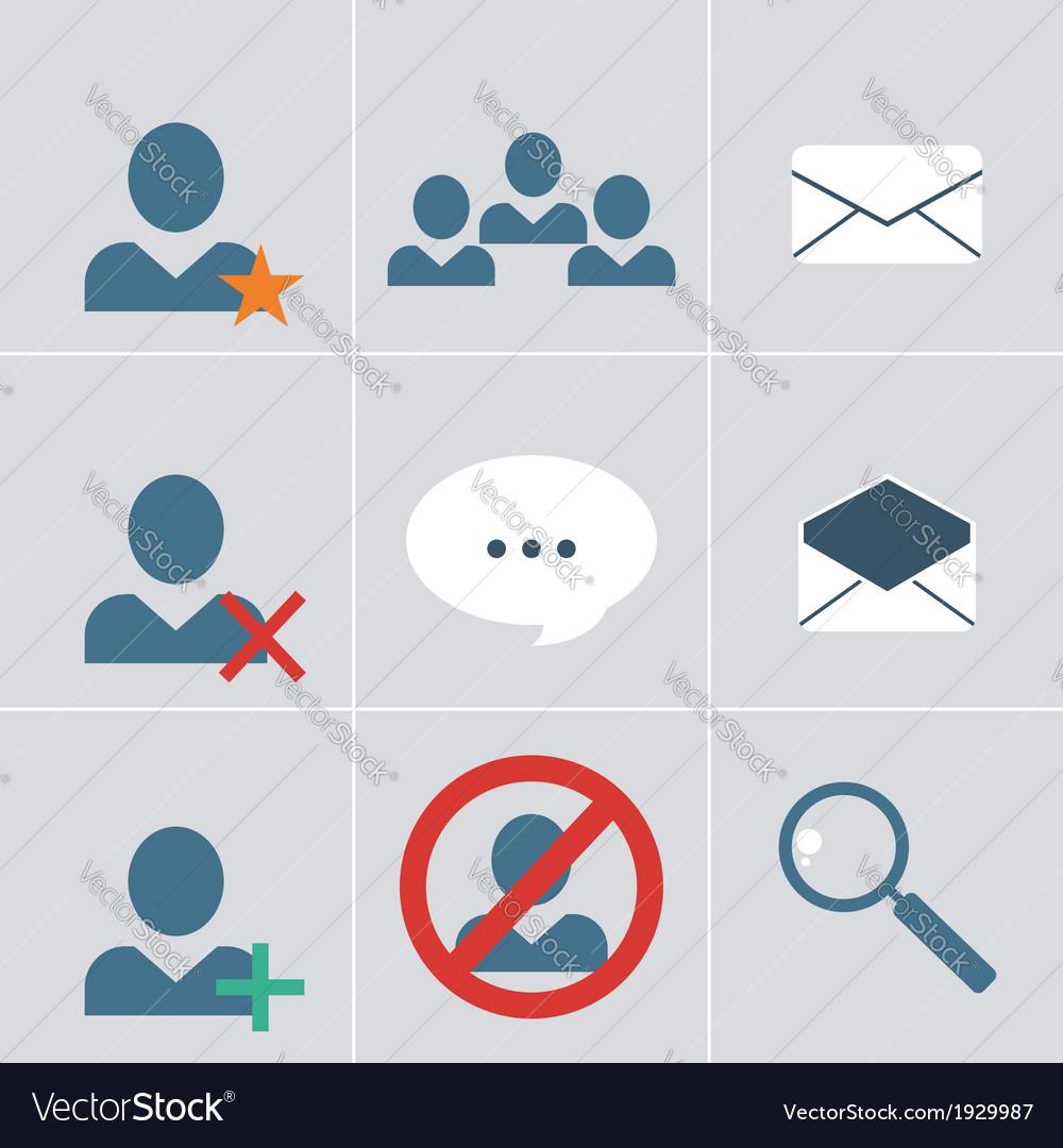 Organizer icon set vector | Price: 1 Credit (USD $1)