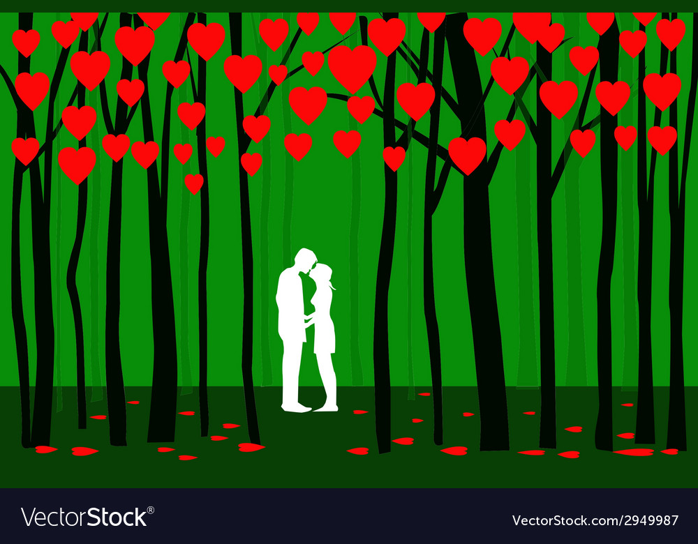 Valentine forest vector | Price: 1 Credit (USD $1)