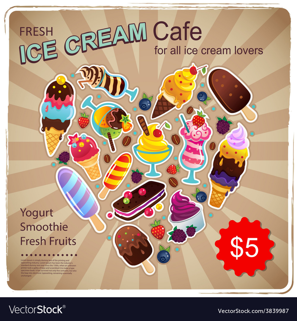 Vintage dessert for your business vector | Price: 1 Credit (USD $1)