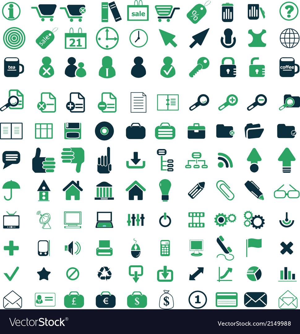 110 icons set vector | Price: 1 Credit (USD $1)