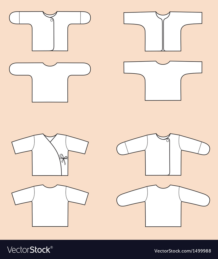 Baby blouses vector | Price: 1 Credit (USD $1)