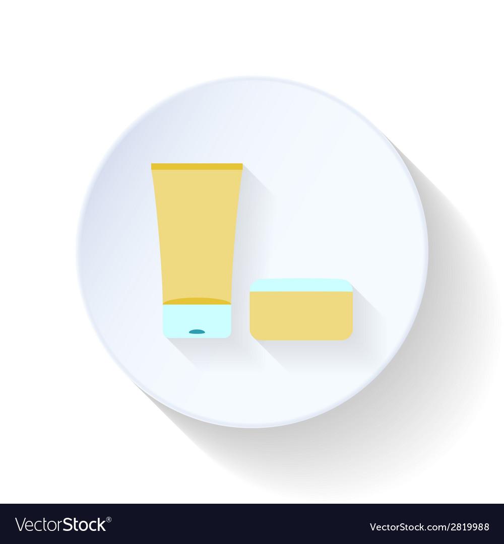 Bath cream and balm flat icon vector | Price: 1 Credit (USD $1)