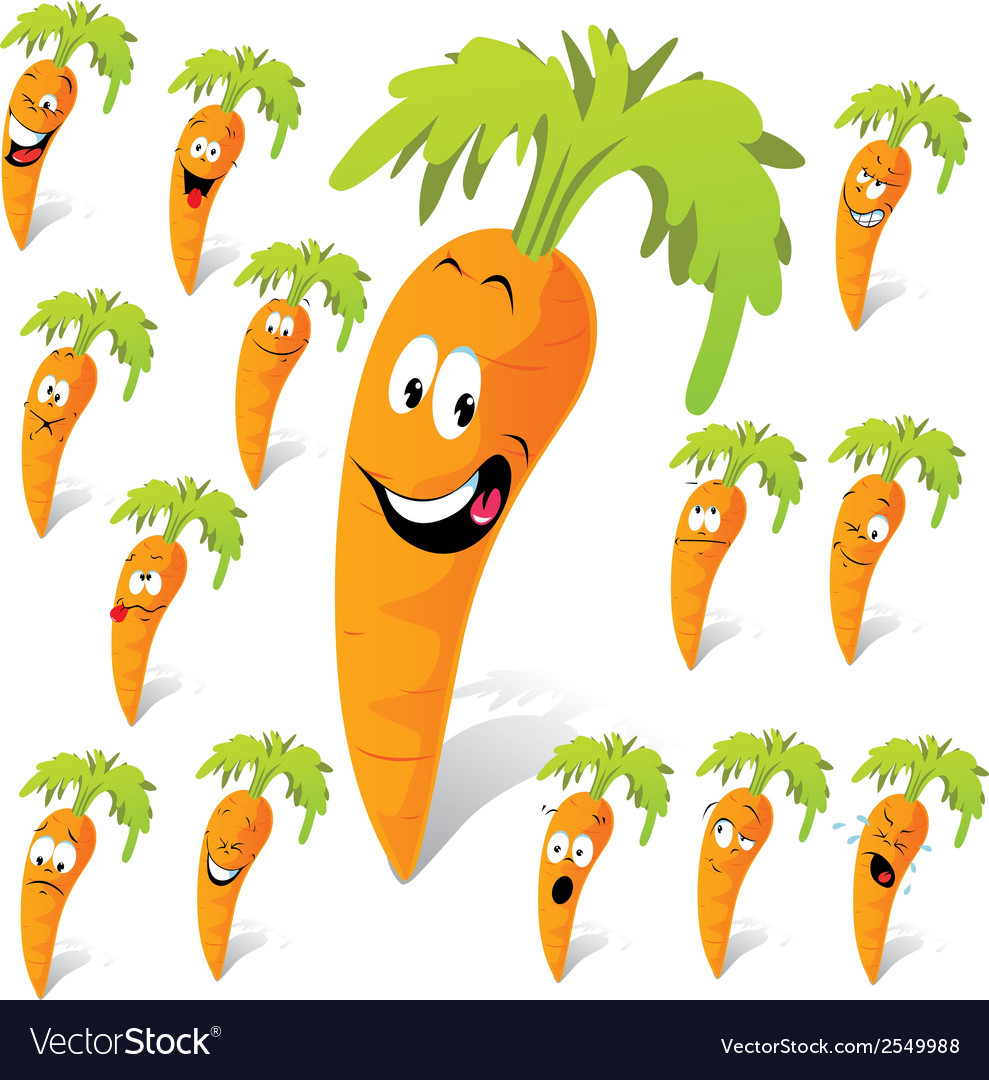 Carrot cartoon vector | Price: 1 Credit (USD $1)