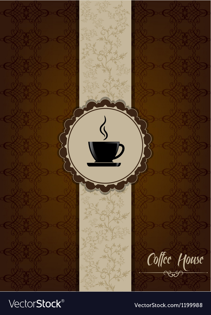 Coffe house menu design with floral patterns vector | Price: 1 Credit (USD $1)