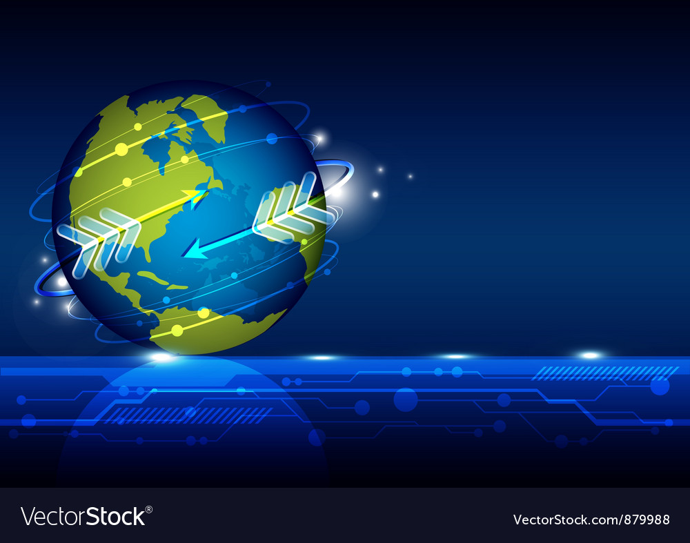 Globalization network technology vector | Price: 1 Credit (USD $1)
