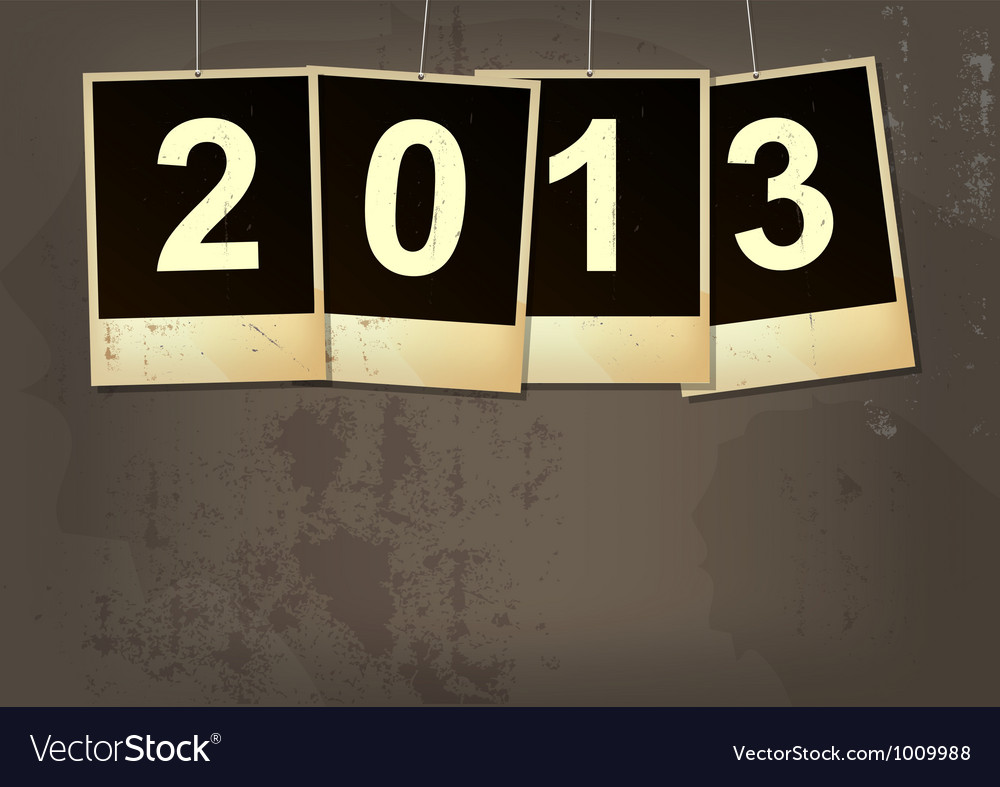New year 2013 grunge background vector | Price: 1 Credit (USD $1)