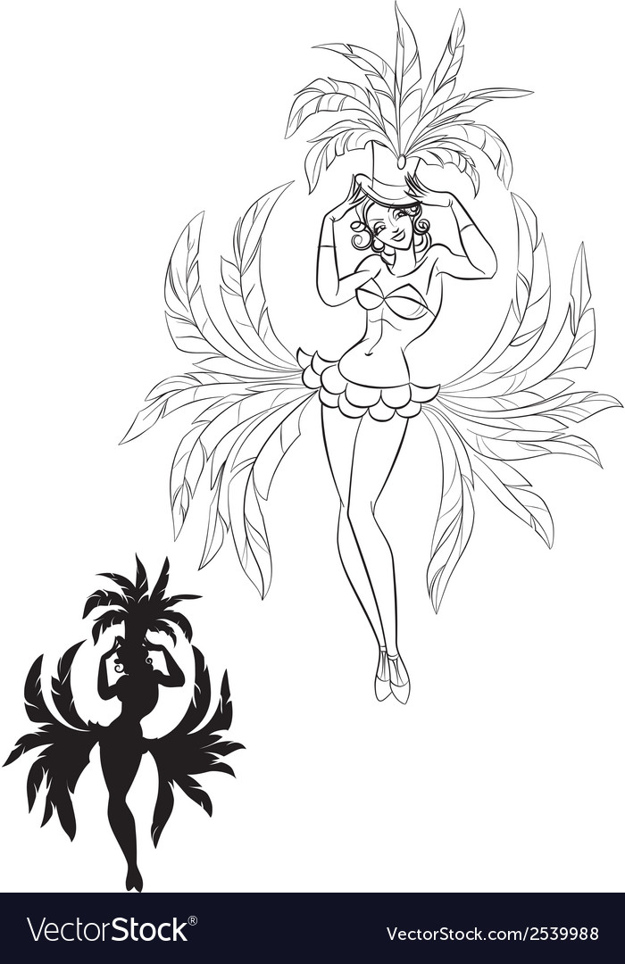 Perfomance of burlesque artist vector   Price: 1 Credit (USD $1)