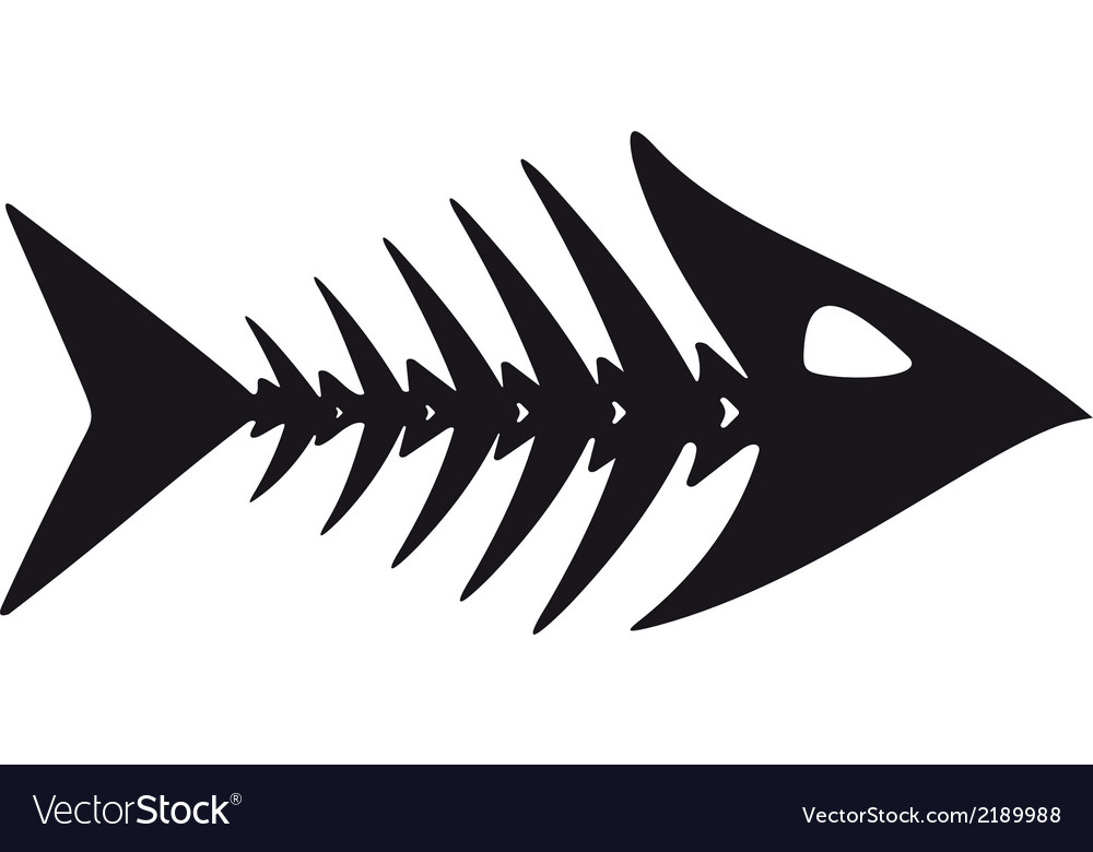 Primitive fish skeleton vector | Price: 1 Credit (USD $1)