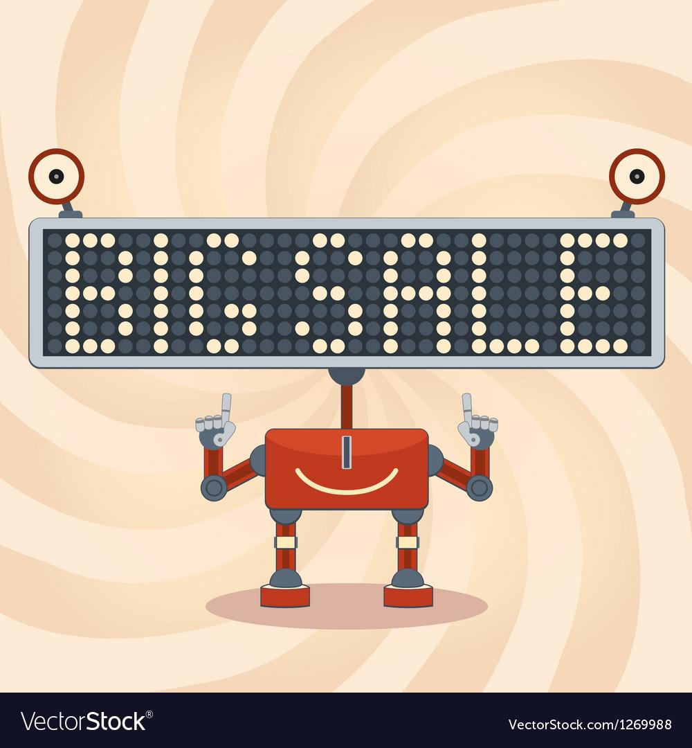 Robot sale background vector | Price: 1 Credit (USD $1)