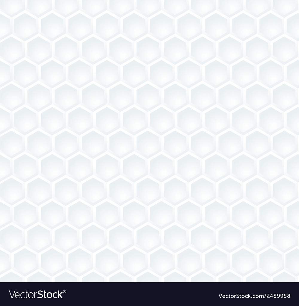 Seamless abstract white hexagon pattern vector | Price: 1 Credit (USD $1)