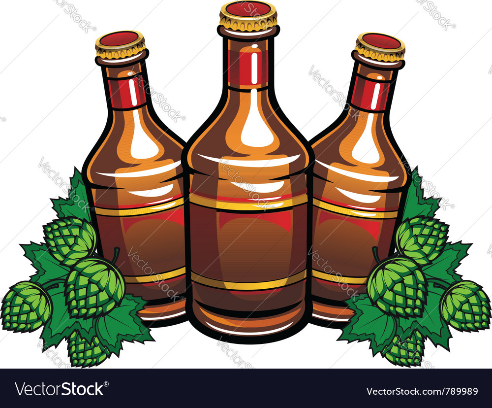 Beer bottles vector | Price: 1 Credit (USD $1)