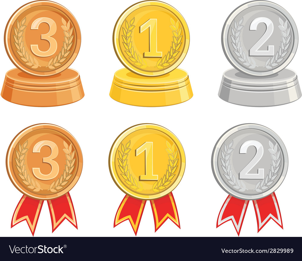 Bronzegold and silver medalsawards vector | Price: 1 Credit (USD $1)
