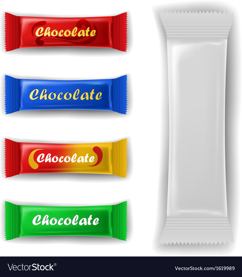 Chocolate bar package set vector | Price: 1 Credit (USD $1)