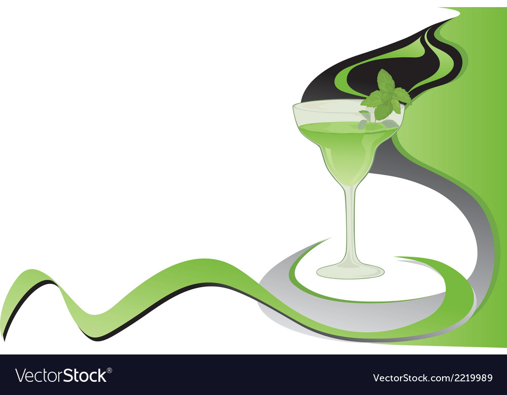 Cocktail mint card vector | Price: 1 Credit (USD $1)