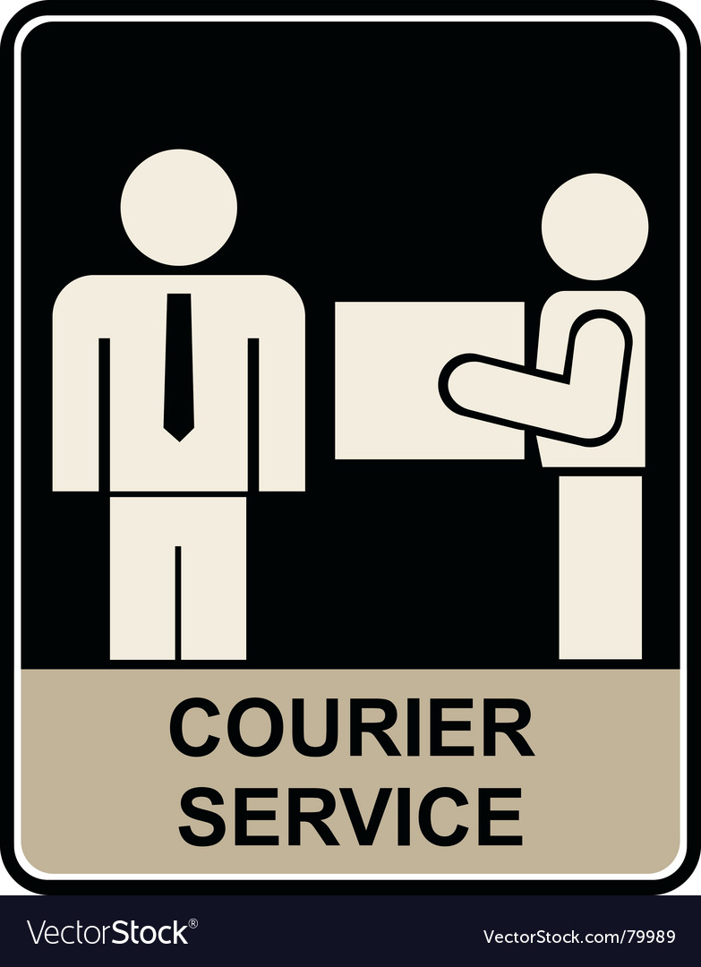 Courier service vector | Price: 1 Credit (USD $1)
