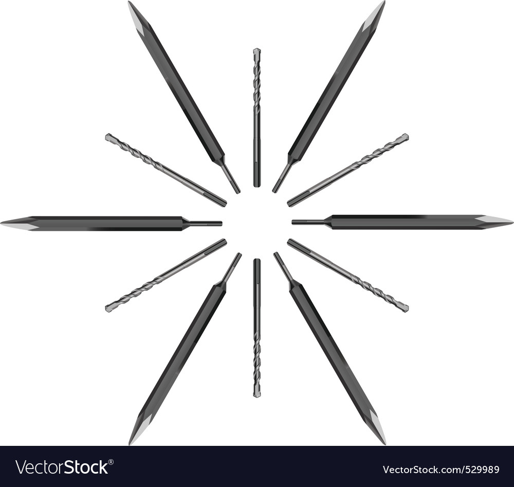 Drill bits vector | Price: 1 Credit (USD $1)