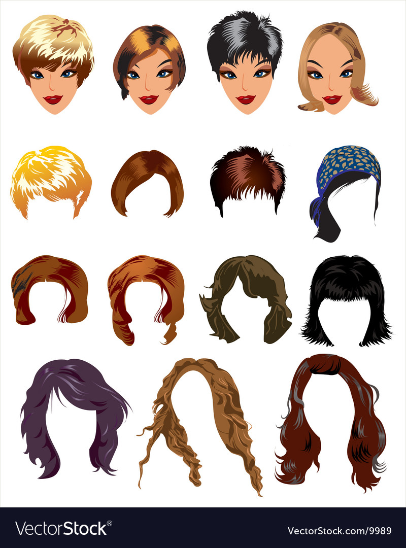 Fashion hair styles vector | Price: 3 Credit (USD $3)