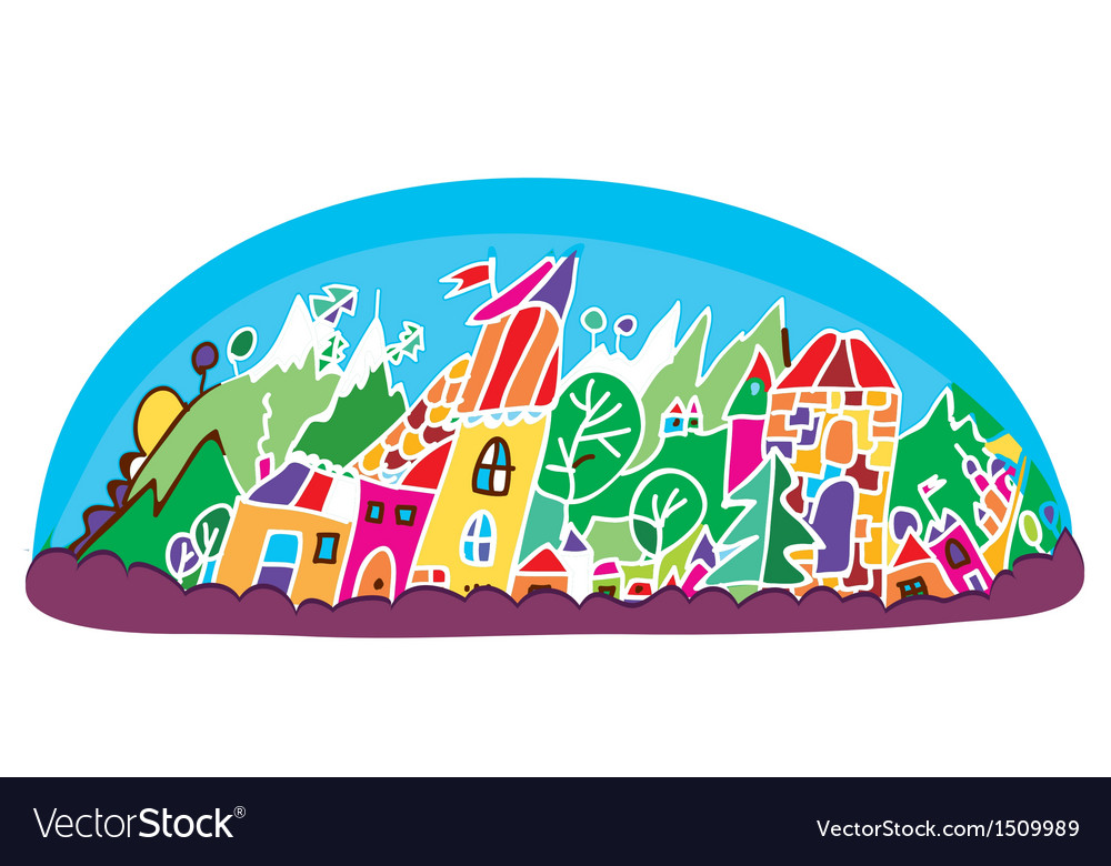 Funny landscape for tourism vector | Price: 1 Credit (USD $1)