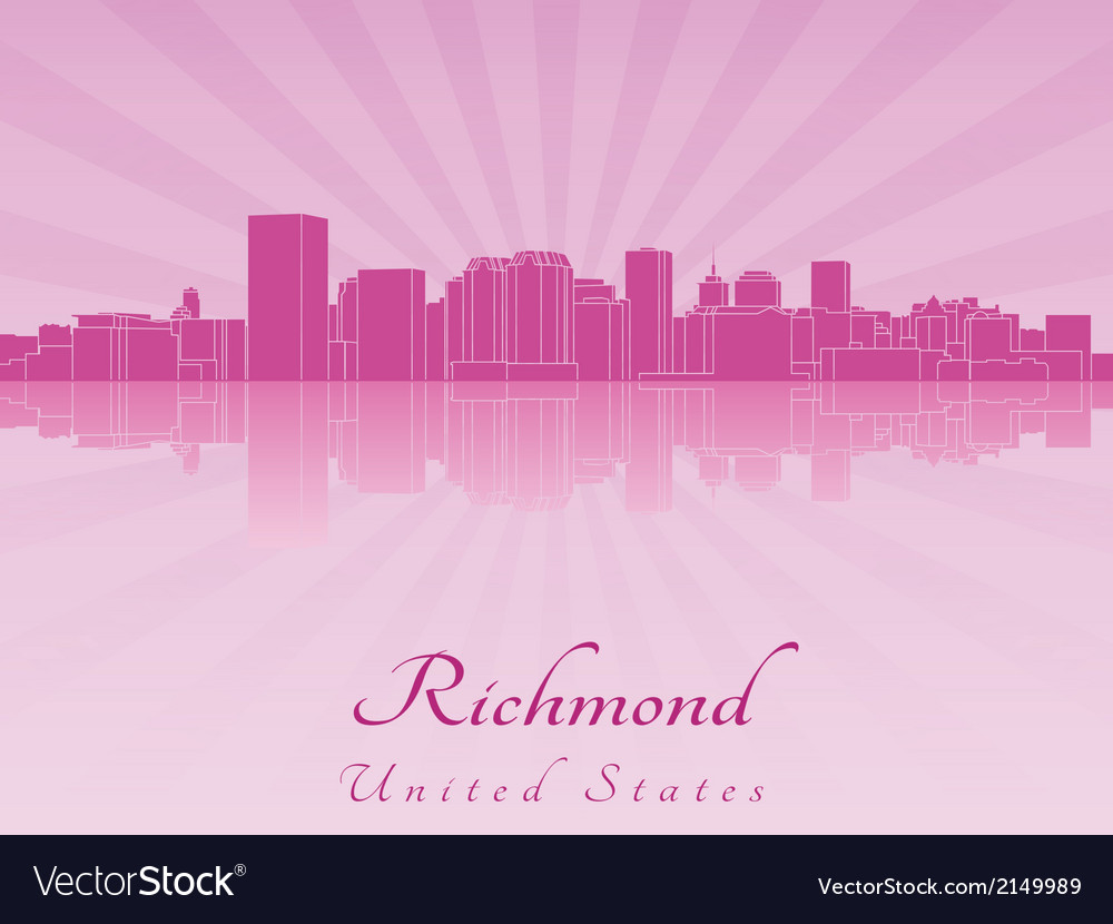 Richmond skyline in purple radiant orchid vector | Price: 1 Credit (USD $1)