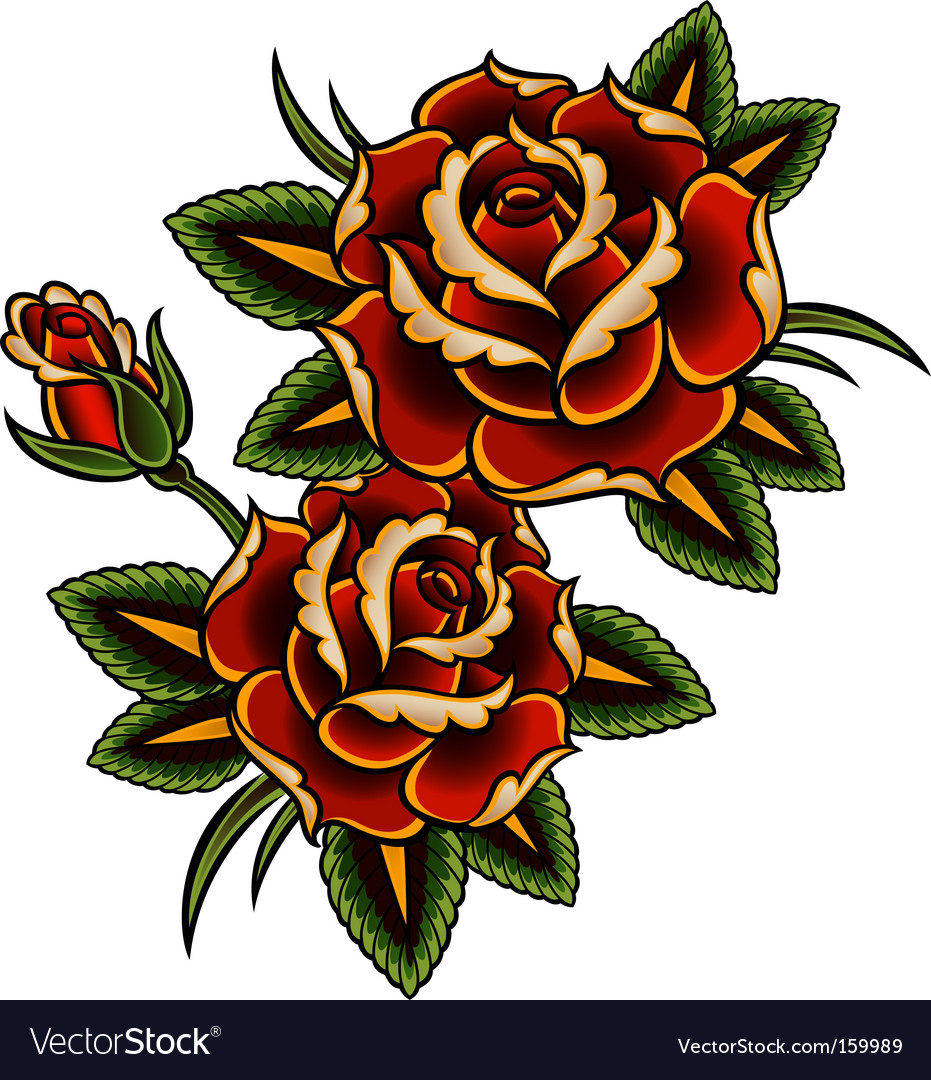 Tattoo rose vector | Price: 1 Credit (USD $1)