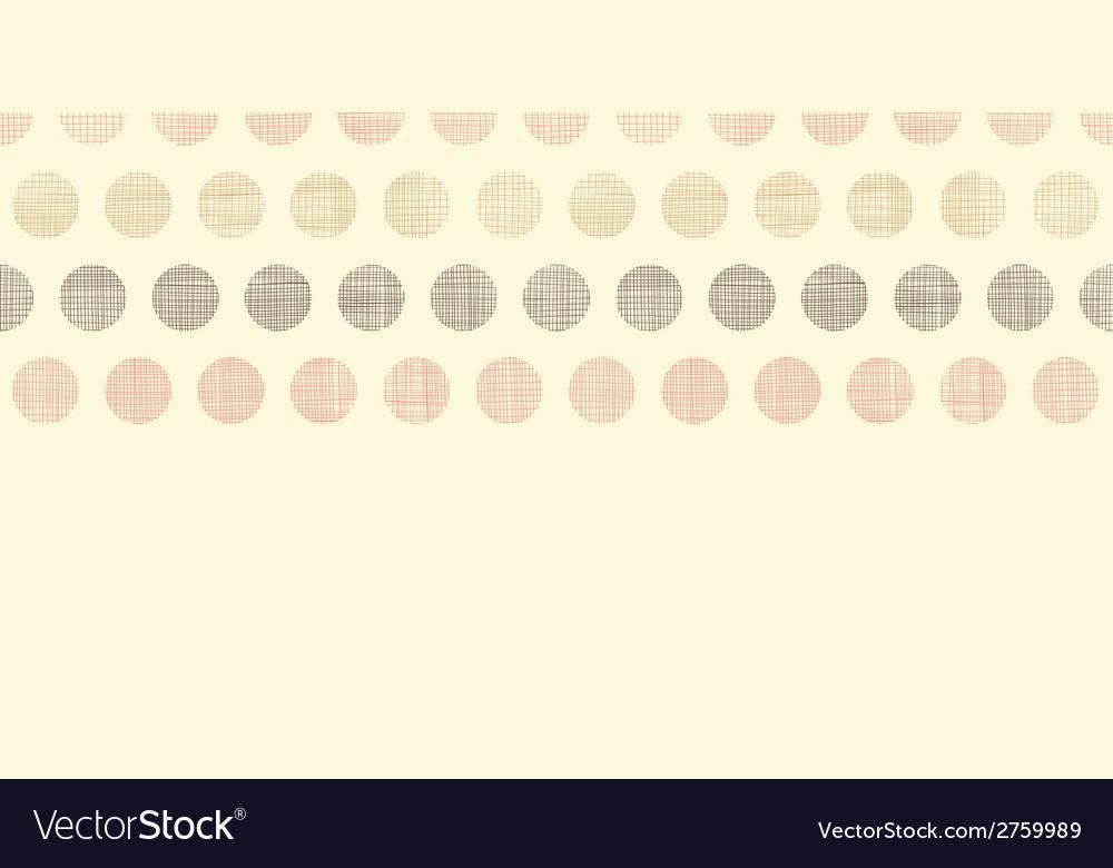 Vintage textile polka dots horizontal border vector | Price: 1 Credit (USD $1)