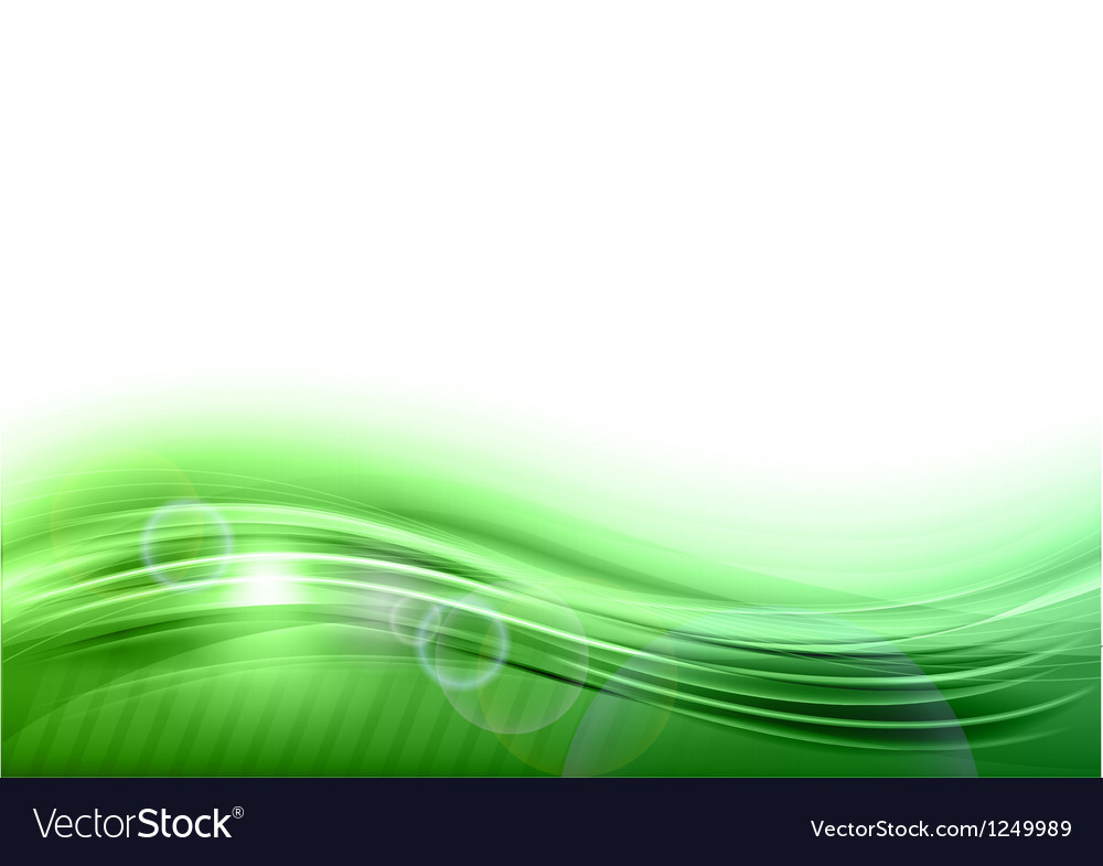 Wave abstract green vector | Price: 1 Credit (USD $1)