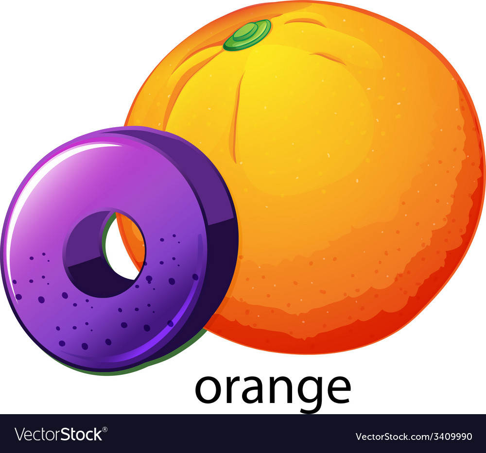 A letter o for orange vector | Price: 1 Credit (USD $1)