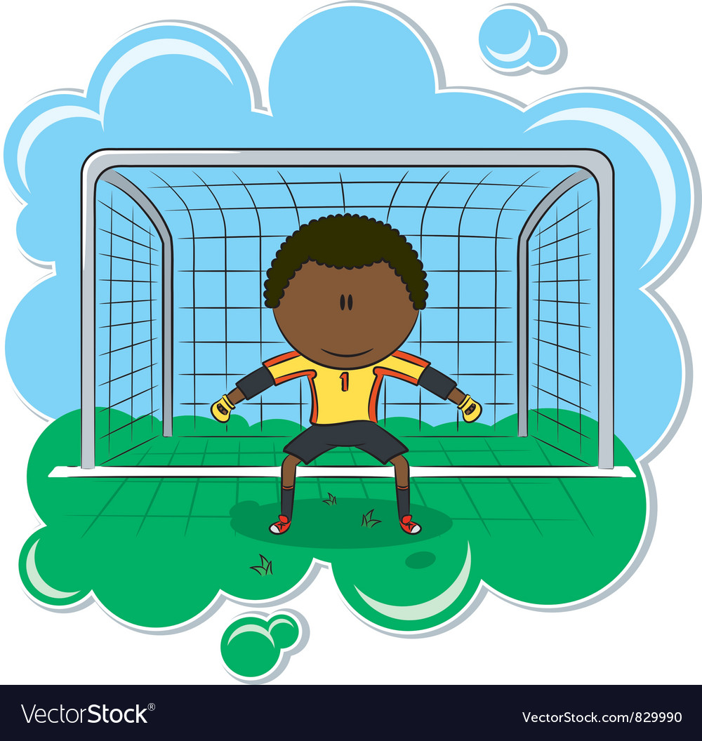 African-american soccer goalkeeper vector | Price: 3 Credit (USD $3)