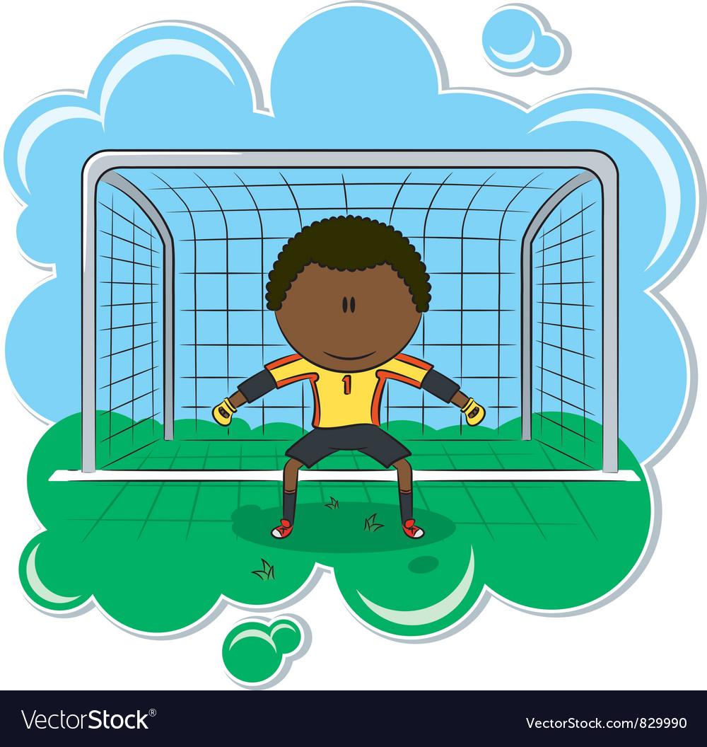 African-american soccer goalkeeper vector | Price: 3 Credit (USD $3)