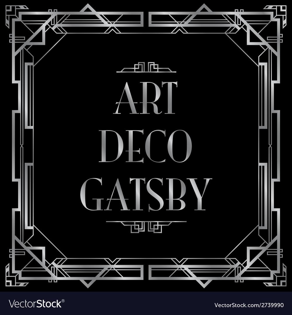 Art deco gatsby square vector | Price: 1 Credit (USD $1)